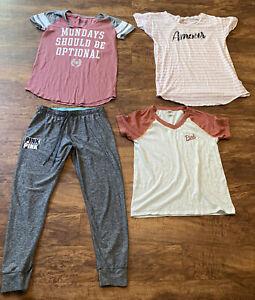 4 Victoria's Secret /PINK Sleep shirts/ Shirt/ULTIMATE Yoga pant Legging JR L
