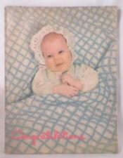Vintage Baby Book & Birth Record Given By Pottstown Pa Hospital 1950s