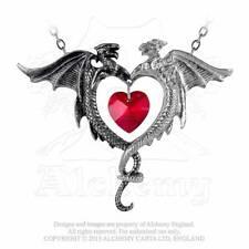 Drachen Dragon Herz Heart Magie Gothic Amulett Anhänger Dragonheart ALCHEMY P446