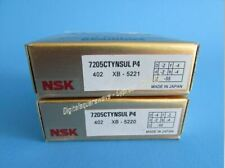 NSK 7205CTYNSULP4 Abec-7 Super Precision Contact Spindle Bearing. Matched Pair