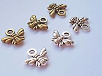 10 BEE CHARM GOLD TONE 17.5mm Jewellery Making-Crafts-Scrapbooking