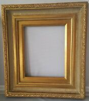 André Handmade Wood Picture/Frame Scoop-Ribbed Antique Gold W/Gold Liner 9 x 12""