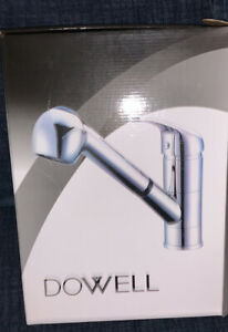 Dowell Single Handle Pullout Spray Professional Kitchen Faucet Brushed Nickel