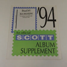 Scott Brazil #1 1994 Sealed Supplement Item #644S094 Stamp Album Pages