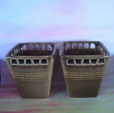 Set of 2 Party Lite Sahara Sands Brownish Votive Candle Holders P9703 ~ NIB!