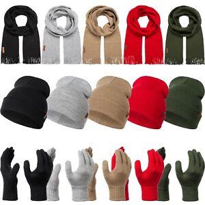Rock Creek Schal Mütze Handschuhe Set Damen Herren Winter Geschenkset U-100 NEU