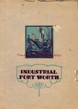 1930 Promotional City Book Industrial Fort Worth Texas Great Early Photography