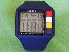 Man Boy Lady Girl Sport Digital Wristwatch Blue Date Day Alarm Stopwatch Plastic
