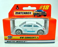 Matchbox Superfast Nr. 18E VW Concept 1 / Beetle weiß top in Box