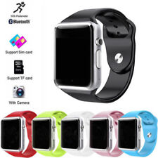 Reloj pulsera A1 inteligente Bluetooth impermeable GSM Teléfono para Android Samsung iPhone