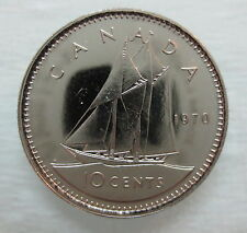 1970 CANADA 10 CENTS PROOF-LIKE DIME COIN