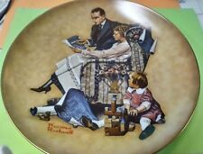 "1981 Norman Rockwell ""Planning Mother'S New House"" W/Coa Msrp $39.99"
