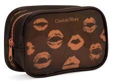 Charlotte Tilbury Brown Vinyl Clear PVC Makeup Bag Travel Case Cosmetic Pouch