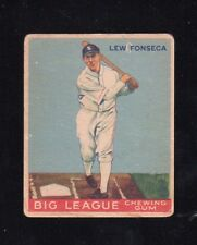 "1933 Goudey #43    Lew Fonseca    White Sox       ""no creases!""    LOOK !!!!"
