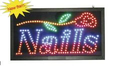 New Animated Led Neon Led Nails Open Sign for Nails Salon Shop Fast Ship from Ny