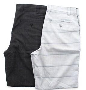 O'Neill Mens Flat Front Plaid Flynn Comfort Stretch Chino Shorts
