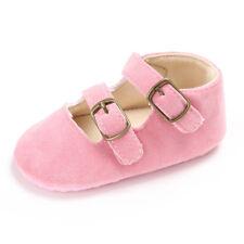 Infant Baby Girl Shoes Hook Loop Soft Sole Antislip First Walker Crib Dress Shoe
