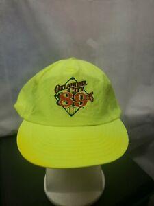 Vintage Oklahoma City 89ers Nylon Yellow SGA Snapback hat MiLB Peter Pan