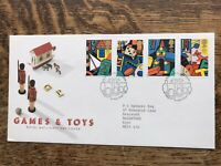 GB 1989 FDC Games And Toys, Leeds Pmk