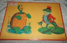 APTITUDE TESTED PUZZLE~MILTON BRADLEY~ TURTLE AND FROG