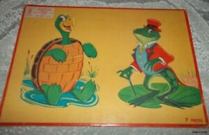 APTITUDE TESTED PUZZLE~MILTON BRADLEY~ TURTLE AND FROG