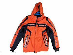 Killtec Men's  Level 10 Hooded Gray Orange Techline Ski Snowboard Jacket Sz M