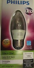 New Philips LED Light Bulb Dimmable 3.5w = 25w B12 Candle Medium Base 180 Lumens