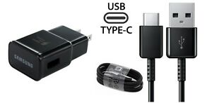 SAMSUNG OEM FAST CHARGER+TYPE C CABLE FOR SAMSUNG GALAXY S8 ACTIVE SM-G892(BLK)
