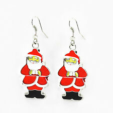 Carini Bianco E Rosso Babbo Natale Goccia Orecchini Natale Regalo Di Natale E666