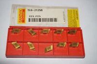 10 new SANDVIK Coromant TLG-2125R Grade 225, Top-Lok Carbide Grooving Inserts