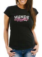 Herren T-Shirt Hunde Mama lustiges Hunde Motiv Gassi Shirt Moonworks®