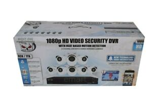 Night Owl 1080p HD DVR Video Security 8CH w/ 1TB HDD 8 Wired Infrared Cameras