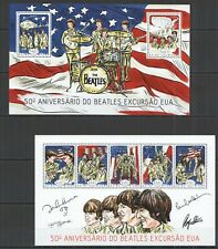 ST1182 2014 GUINEA-BISSAU MUSIC BEATLES TOUR IN USA KB+BL MNH STAMPS