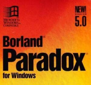 Borland Paradox 5.0 PC CD classic relational database application development!