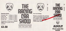 The Racing Car Show January 1987 Admission Ticket