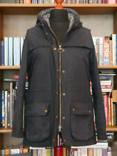 £239 Ladies Barbour Liberty Blaise navy wax hooded jacket size UK 12 US 8 EU 38