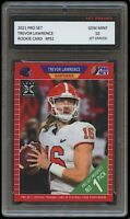 TREVOR LAWRENCE 2021 PRO SET (LEAF) 1ST GRADED 10 ROOKIE CARD RC CLEMSON TIGERS