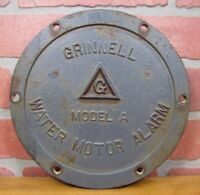 Old Cast Iron GRINNELL WATER MOTOR ALARM Cover Model A Industrial Fire Sprinkler