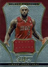 Panini Select 2013/14 Karte Lebron James Select Swatches getragenes Trikotstück