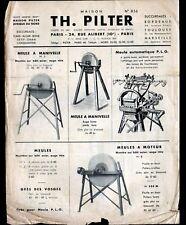 """PARIS (X°) USINE de MATERIEL & MACHINES AGRICOLES / MEULES """"Th. PILTER"""" 1950"""