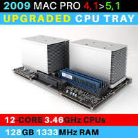 2009  Mac Pro 4,1->5,1 CPU Tray with 12-Core 3.46GHz Xeon and 128GB RAM