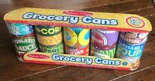 Melissa & Doug Unopened 10-Piece Kids Pretend Grocery Can Set