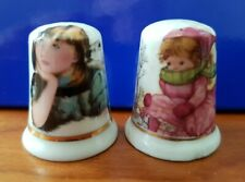 Set of Three Shirley Temple Porcelain China Collectable Thimbles