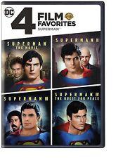4 Film Favorite  Superman (DVD 2-Disc Set Christopher Reeve Part 1 2 3 4 Movie