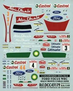 Ford Focus WRC - Rally Monte Carlo 2008 - Hirvonen or Latvala - Decal