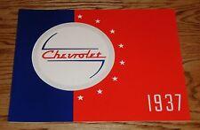 1937 Chevrolet Full Line Car Sales Brochure 37 Chevy De Luxe Coupe Sedan