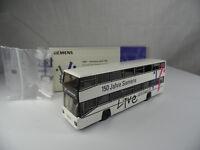 sw1835, WIKING Siemens Werbemodell D 89 Berliner Doppeldecker 1:87 BOX mint Neuw