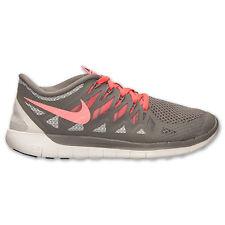 New Nike Women's Free 5.0 Running Shoes (642199-200)  Light Ash/Hyper Punch/Grey