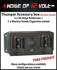 Thumper Accessory box 2x Anderson + Cigarette outlet Surface mount 12 Volt / 24V