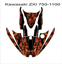 KAWASAKI ZXi 750 1100 jetski Jet Ski Graphic Kit Wrap pwc decals stickers flames